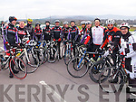 Members of the Chain Gang Cycling Club pictured at the Rás Mumhan Etape at Kenmare on Saturday, from left: John O'Regan, John L McElligott, Aine Prendeville, Cora Carraig, Colin Lacey, Brendan O'Connor, Mark Prendeville, Christo Murray, John O'Carroll, Canice Walsh, Tom Brendan O'Connor, Barry Cooney and Kerry Kennelly.