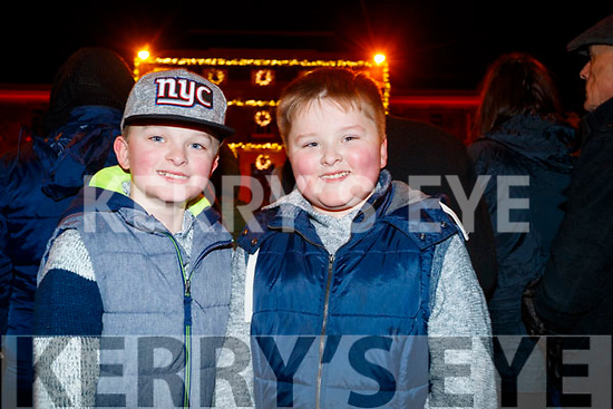 Jack and Josh Greaney, Kilflynn at the Fireworks in Tralee on New Years Eve.