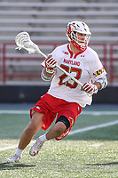 College Park, MD - March 18, 2017: Maryland Terrapins Adam DiMillo (23) looks to pass the ball during game between Villanova and Maryland at  Capital One Field at Maryland Stadium in College Park, MD.  (Photo by Elliott Brown/Media Images International)