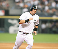 A.J. Pierzynski of the Chicago White Sox vs. the Florida Marlins: June 19th, 2007 at Wrigley Field in Chicago, IL.  Photo by Mike Janes/Four Seam Images