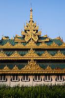 Entrance to the Shwedagon pagoda, Yangon, Myanmar