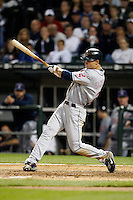 August 7, 2009:  Center Fielder Grady Sizemore (24) of the Cleveland Indians at bat during a game vs. the Chicago White Sox at U.S. Cellular Field in Chicago, IL.  The Indians defeated the White Sox 6-2.  Photo By Mike Janes/Four Seam Images