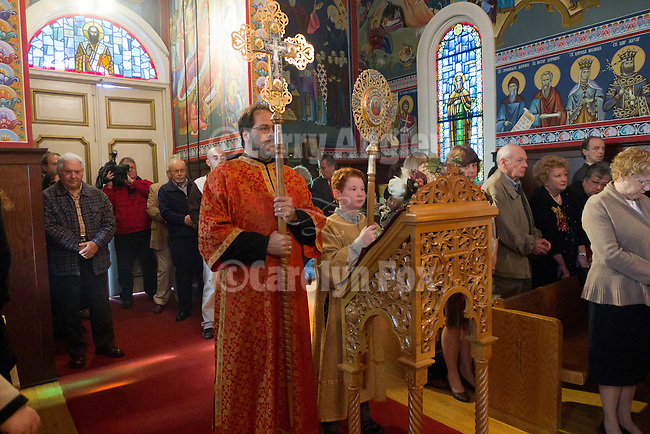 Christmas Liturgy service, at St. Sava Serbian Orthodox Church on January 7.