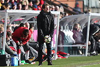 Arsenal manager Joe Montemurro during Arsenal Women vs Yeovil Town Ladies, FA Women's Super League FA WSL1 Football at Meadow Park on 11th February 2018