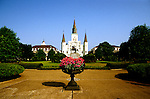 Louisiana, New Orleans: Cathedral.  Photo #: lanewo102.  Photo copyright Lee Foster, www.fostertravel.com, 510/549-2202,  lee@fostertravel.com