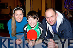 Samuel Pituch Tralee who competed in the All Ireland Table Tennis finals in the INEC on Saturday with his parents Olga and Ivan