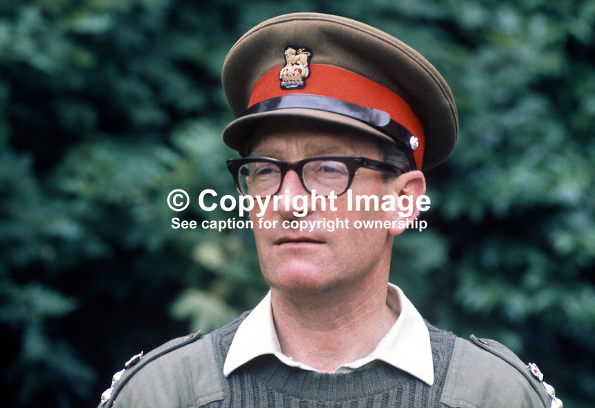 Brigadier Marston Tickell, Chief of Staff, British Army, in N Ireland during the Troubles. 197108000303MT2<br />