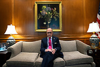 Director of the National Economic Council Larry Kudlow sits for a portrait in his office at the White House in Washington D.C., U.S., on Thursday, February 6, 2020. Credit: Stefani Reynolds/CNP/AdMedia