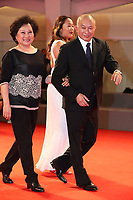 Annie Woo and John Woo walk the red carpet ahead of the 'Manhunt (Zhuibu)' screening during the 74th Venice Film Festival at Sala Darsena on September 8, 2017 in Venice, Italy. <br /> CAP/GOL<br /> &copy;GOL/Capital Pictures