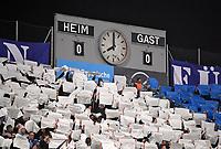 06.03.2018, Football Regionalliga Bayern 2017/2018, TSV 1860 Muenchen - TSV Buchbach, Gruenwalder-stadium Muenchen. Fanchoreografie Loewenfans, behind die Anzeigetafel and den Ersatz-Tafeln. *** Local Caption *** © pixathlon<br /> <br /> Contact: +49-40-22 63 02 60 , info@pixathlon.de
