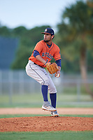 GCL Astros pitcher Jervic Chavez (14) during a Gulf Coast League game against the GCL Marlins on August 8, 2019 at the Roger Dean Chevrolet Stadium Complex in Jupiter, Florida.  GCL Marlins defeated GCL Astros 5-4.  (Mike Janes/Four Seam Images)