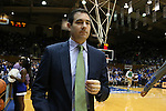 16 January 2016: Notre Dame assistant coach Martin Ingelsby. The Duke University Blue Devils hosted the University of Notre Dame Fighting Irish at Cameron Indoor Stadium in Durham, North Carolina in a 2015-16 NCAA Division I Men's Basketball game. Notre Dame won the game 95-91.