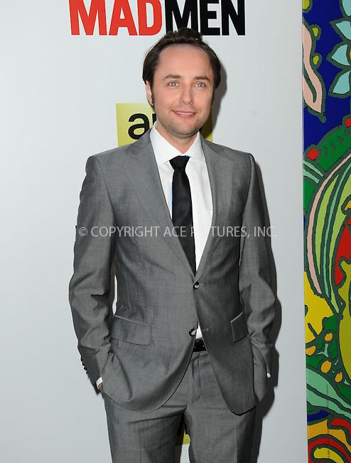 WWW.ACEPIXS.COM<br /> <br /> April 2 2014, LA<br /> <br /> Vincent Kartheiser arriving at AMC's 'Mad Men' Season 7 premiere at ArcLight Cinemas on April 2, 2014 in Hollywood, California<br /> <br /> By Line: Peter West/ACE Pictures<br /> <br /> <br /> ACE Pictures, Inc.<br /> tel: 646 769 0430<br /> Email: info@acepixs.com<br /> www.acepixs.com