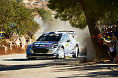 6th October 2017, Costa Daurada, Salou, Spain; FIA World Rally Championship, RallyRACC Catalunya, Spanish Rally; Ott Tanak and his co-driver Martin Jarveoja of Estonia compete in their M Sport World Rally Team Ford Fiesta WRC during the Terra Alta Stage