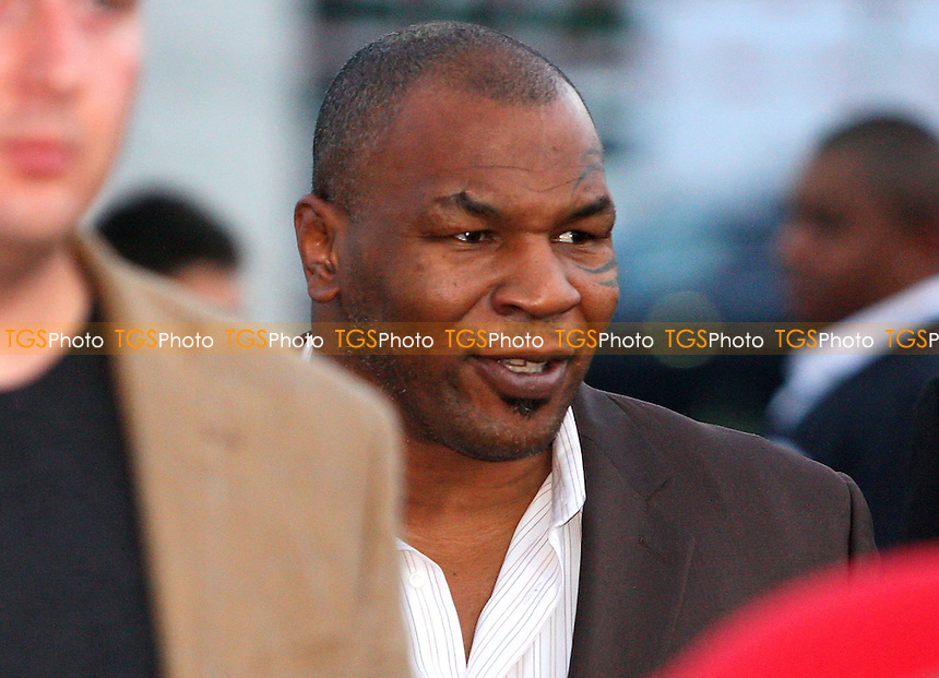 Boxer Mike Tyson arrives to give a Q&A session during an 'Evening with Mike Tyson' at The Academy, Debden, Loughton - 30/05/08 - MANDATORY CREDIT: Gavin Ellis/TGSPHOTO. Self-Billing applies where appropriate. NO UNPAID USE. Tel: 0845 094 6026