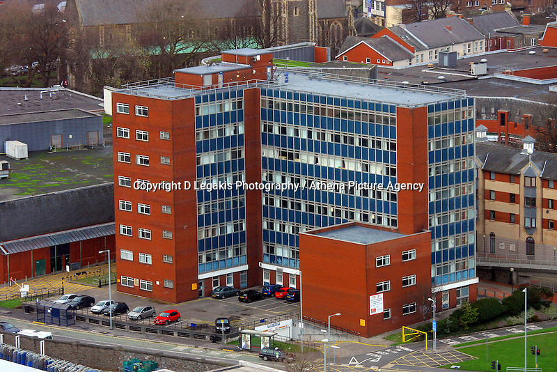 Pictured: DWP department for work and pensions general view of Swansea as seen from the Penthouse restaurant<br />