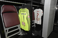 Houston, TX - Sunday Oct. 09, 2016: Western New York Flash locker room prior to a National Women's Soccer League (NWSL) Championship match between the Washington Spirit and the Western New York Flash at BBVA Compass Stadium.