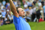 Graeme McDowell on the 18th green after shooting a 63 to win with 15 under during the Final Day of The Celtic Manor Wales Open, 6th June 2010 (Photo by Eoin Clarke/GOLFFILE).