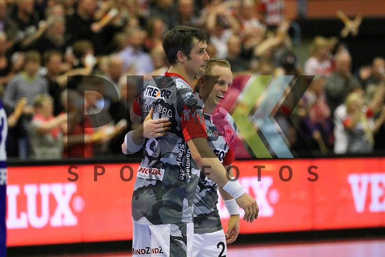 Kolding, 22.02.15, Sport, Handball, EHF Champions League, Grunppenspiel, KIF Kolding Kobenhavn - Alingsas HK : Jubel nach Sieg<br /> <br /> Foto &copy; P-I-X.org *** Foto ist honorarpflichtig! *** Auf Anfrage in hoeherer Qualitaet/Aufloesung. Belegexemplar erbeten. Veroeffentlichung ausschliesslich fuer journalistisch-publizistische Zwecke. For editorial use only.