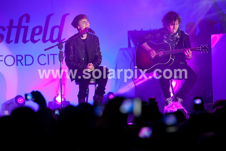 **ALL ROUND PICTURES FROM SOLARPIX.COM**                                             **NO UK NEWSPAPER PUBLICATION**.**UK MAGAZINE & SUPPLEMENT PUBLICATION ONLY** AND NO PUBLICATION IN AUSTRALIA, BELGIUM, FRANCE, GERMANY, ITALY, SCANDINAVIA AND USA**                                                                                  Caption:  Canadian pop singerJustin Bieber arrives to turn on the Westfield Christmas Lights at Westfield Shopping Centre, White City Shepherd's Bush in london.Hundreds of fans rushed into the shopping centre in   for a glimpse of their idol.                                                                             This pic: Justin Bieber                                                                                             JOB REF: 14164       SFE       DATE: 07.11.2011                                                           **MUST CREDIT SOLARPIX.COM OR DOUBLE FEE WILL BE CHARGED**                                                                      **MUST AGREE FEE BEFORE ONLINE USAGE**                               **CALL US ON: +34 952 811 768 or LOW RATE FROM UK 0844 617 7637**