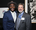Doug Lyons and R.K. Greene during the Vineyard Theatre's Emerging Artists Luncheon honoring Charly Evon Simpson with the Paula Vogel Playwriting Award at the National Arts Club on November 25, 2019 in New York City.