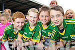 Micheal Kissane (Moyvane) Dylan Grady, Kian Clancy (Listowel) and Sean Stackwell (Moyvane) pictured at the Kerry fans family day held in Fitzgerald Stadium on Saturday