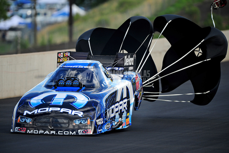 Jul, 22, 2011; Morrison, CO, USA: NHRA funny car driver Matt Hagan during qualifying for the Mile High Nationals at Bandimere Speedway. Mandatory Credit: Mark J. Rebilas-