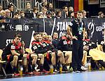 10.01.2019, Mercedes Benz Arena, Berlin, GER, Handball WM 2019, Deutschland vs. Korea, im Bild <br /> Cheftrainer (Head Coach) Christian Prokop (GER), Spielerbank<br /> <br />      <br /> Foto © nordphoto / Engler