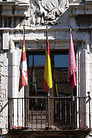 flags Colegio de Santa Cruz college Valladolid spain castile and leon