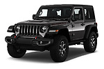 2020 JEEP Wrangler Rubicon 5 Door SUV Angular Front stock photos of front three quarter view
