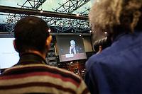 Milano: il Presidente del Consiglio Mario Monti arriva a Palazzo Mezzanotte dove ha incontrato la comunità finanziaria.
