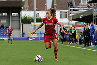 Jess Clarke of Liverpool Ladies in action during Chelsea Ladies vs Liverpool Ladies, FA Women's Super League FA WSL1 Football at Kingsmeadow on 7th October 2017