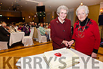 Two of the longest serving members of the Cahersiveen Pioneer Total Abstinence Association with over 70 years each had the honor of cutting the cake to celebrate the Associations 95th anniversary in Cahersiveen, pictured l-r; Mary Wharton & Bridie Roper.