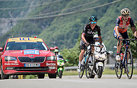 eventual stage winner Peter Kennaugh (GBR/SKY)<br /> <br /> stage 7: Aoste &gt; Alpe d'Huez (168km)<br /> 69th Crit&eacute;rium du Dauphin&eacute; 2017