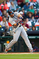 Detroit Tigers third baseman Miguel Cabrera (24) swings the bat during the first inning of MLB baseball game against the Houston Astros on May 3, 2013 at Minute Maid Park in Houston, Texas. Detroit defeated Houston 4-3. (Andrew Woolley/Four Seam Images).