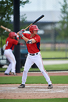 GCL Nationals pinch hitter Trey Vickers (13) at bat during a game against the GCL Mets on August 4, 2018 at FITTEAM Ballpark of the Palm Beaches in West Palm Beach, Florida.  GCL Nationals defeated GCL Mets 7-4.  (Mike Janes/Four Seam Images)