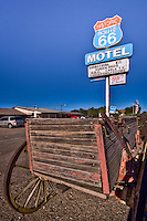 Historic Route 66 Motel<br />  <br /> Enjoy a comfortable night&rsquo;s stay at the Historic Route 66 Motel in one of their 16 newly-remodeled rooms. Rest your head where Burl Ives, Bobby Troop (writer of  &quot;Get Your Kicks on Route 66&quot;) chose to stay on their trip down The Mother Road. AAA approved.