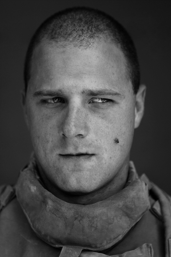 Cpl. Francis Wolf, III, 22, Crestwood, Kentucky, 3rd Platoon, Kilo Company, 3rd Battalion, 1st Marine Regiment, 1st Marine Division, United States Marine Corps, at the company's firm base in Hit, Iraq on Friday Sept. 23, 2005.