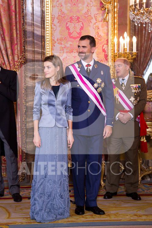 Military Christmas at Madrid Royal Palace. Juan Carlos Borbon , Sofia de Grecia, Felipe Borbon, jl Zapatero...Photo: MAC / ALFAQUI