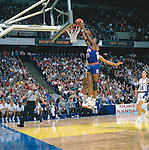 02 APR 1988:  Kansas forward Danny Manning (25) during the NCAA Men's National Basketball Final Four semifinal game held in Kansas City, MO, at Kemper Arena. Kansas defeated Duke 66-59 to meet Oklahoma for the championship. Manning was named MVP for the tournament. Photo by Rich Clarkson/NCAA Photos..SI CD 0023-11