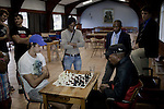 BLOEMFONTEIN, SOUTH AFRICA APRIL 17, 2013: Students play chess  at the Armentum residence at the University of the Free State in Bloemfontein, South Africa. Photo by: Per-Anders Pettersson