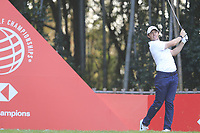 Rory McIlroy (NIR) on the 17th tee during the final round of the WGC HSBC Champions, Sheshan Golf Club, Shanghai, China. 03/11/2019.<br /> Picture Fran Caffrey / Golffile.ie<br /> <br /> All photo usage must carry mandatory copyright credit (© Golffile | Fran Caffrey)