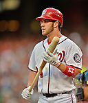 15 June 2012: Washington Nationals outfielder Bryce Harper steps up to the plate during action against the New York Yankees at Nationals Park in Washington, DC. The Yankees defeated the Nationals 7-2 in the first game of their 3-game series. Mandatory Credit: Ed Wolfstein Photo