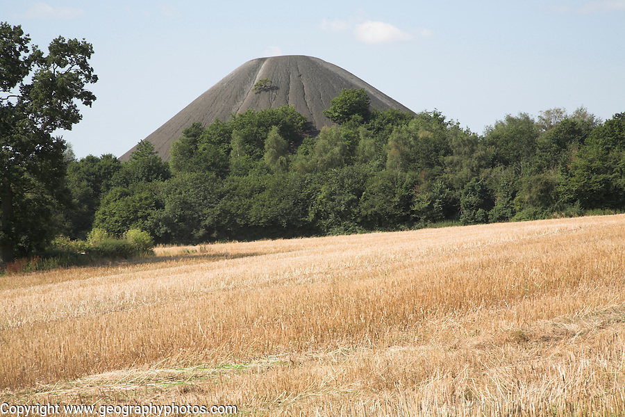 Slag heap from former coal mining in the Somerset coalfield, Midsomer Norton, Somerset, England