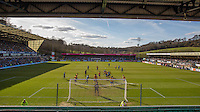 General view of play during the Sky Bet League 2 match between Wycombe Wanderers and Mansfield Town at Adams Park, High Wycombe, England on 25 March 2016. Photo by Andy Rowland.