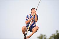 FIERLJEPPEN: BUITENPOST: 27-06-2014, Oane Galama wint met 20.66m, ©foto Martin de Jong