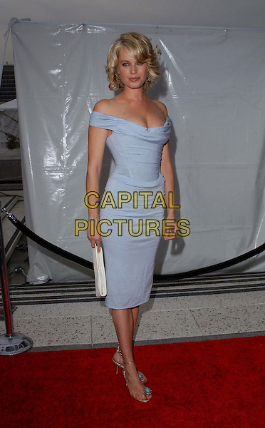 REBECCA ROMIJN-STAMOS.A The Placido Domingo & Friends Concert and Gala held at The Dorothy Chandler Pavilion in downtown L.A..light blue dress, off the shoulder, full length, full-length.www.capitalpictures.com.sales@capitalpictures.com.©Capital Pictures
