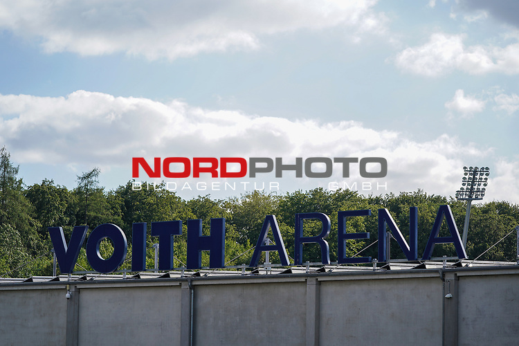 Feature Voith Arena Aussenansicht<br /> <br /> <br /> Sport: nphgm001: Fussball: 1. Bundesliga: Saison 19/20: Relegation 02; 1.FC Heidenheim vs SV Werder Bremen - 06.07.2020<br /> <br /> Foto: gumzmedia/nordphoto/POOL <br /> <br /> DFL regulations prohibit any use of photographs as image sequences and/or quasi-video.<br /> EDITORIAL USE ONLY<br /> National and international News-Agencies OUT.