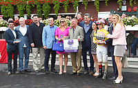 Lady Ivanka (no. 3), ridden by Irad Ortiz Jr. and trained by Rudy Rodriguez, wins the 126th running of the grade 1 Spinaway Stakes for two year old fillies on September 02, 2017 at Saratoga Race Course in Saratoga Springs, New York. (Bob Mayberger/Eclipse Sportswire)