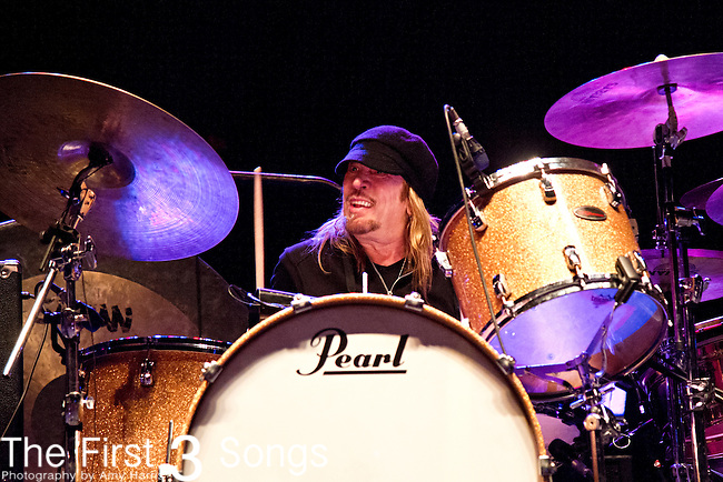 Matt Abts of Government Mule performs during the The Beale Street Music Festival in Memphis, Tennessee.